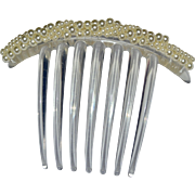 Huge Faux White Pearl & Lucite Wedding Tiara Hair Comb