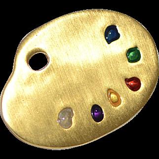 Metropolitan Museum of Art MMA Artist Paint Palette Pin/Brooch
