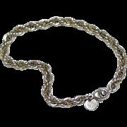 Tiffany & Co. Sterling Silver 18K Gold Rope Bracelet
