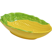 Large Yellow Corn Ceramic Pottery Serving Bowl