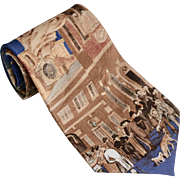 Museum Gallery Benjamin Franklin & Philadelphia Society 'Slavery Abolition' Pure Silk Men's Neck Tie