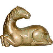 1961 Austin Art Deco Style Faux Bronze Patinated Horse Sculpture
