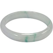 Icy Pale Green Genuine Jade Bangle Bracelet