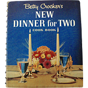 1964 Betty Crocker's New Dinner For Two Hardcover Illustrated Cookbook