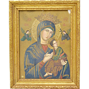Signed Russian Madonna and Child Framed Art Print