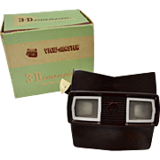 VIEW-MASTER 3-Dimension Lighted Viewer Model F with Original Box