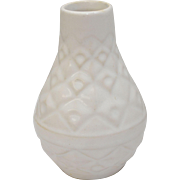 West Germany 502-11 White Glazed Ceramic Small Mid-Century Modern Pottery Vase