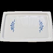 "Corning Ware Cornflower Blue Large 16""  Broil Bake Tray or Cookie Sheet"