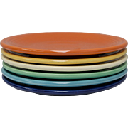 Fiesta Fiestaware Homer Laughlin Bread & Butter Assorted Color Plate Set