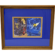 Marc Chagall The Jacob's Dream Art Print w/ Wood Frame