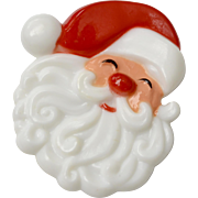 "Hallmark ""Jolly Santa Claus"" Plastic Christmas Pin"
