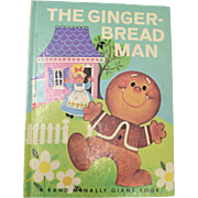 Circa 1978 The Gingerbread Man Rand McNally Giant Hardcover Book