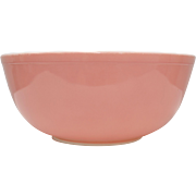 Circa 1950s Pyrex Pink Milk Glass 4 Quart 404 Mixing Bowl