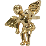 14k Gold Plated Treasure & Trinkets Angel/Cherub Goldtone Tie Tack/Pin