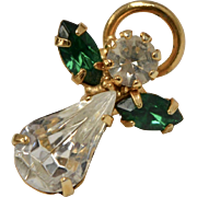 Guardian Angel w/ May Emerald Green Austrian Crystal Tie Tack/Pin on Original Card