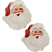 "Set of 2 ""Winking Santa"" Colorful Paper Die-Cut Gift Labels"
