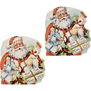 "Set of 2 ""Do Not Open Until Dec 25th"" Colorful Paper Santa Die-Cut Gift Labels"