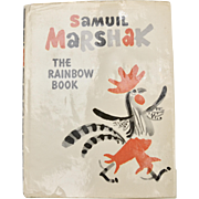 """The Rainbow Book"" by Samuil Marshak Illustrated Hardcover Book w/ Original Dustjacket"