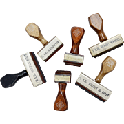 Set of 6 Confectionery Flavored Chocolate, Fruit, Nut Strawberry Rubber Wood Stamps