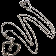 """Tiffany & Co. Elsa Peretti Sterling Silver Apple Pendant 16"""" Chain Necklace"""