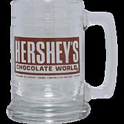 Hershey's Chocolate World Large Glass Advertising Mug