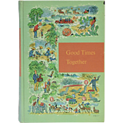 "Copyright 1958 ""Good Times Together"" Through Golden Windows Illustrated Hardcover Children's Book"