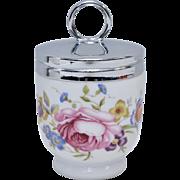 Royal Worcester Bournemouth Rose Flower Porcelain Egg Coddler