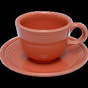 Fiesta by Homer Laughlin Flamingo Cup & Saucer Set