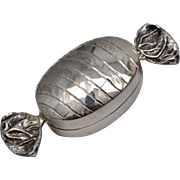 Sterling Silver Candy Hinged Pill Box