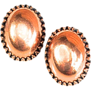 Vintage Renoir Large Oval Copper Earrings