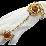 Juliana (D&E) Book Piece Topaz Cabochon Slave Bracelet