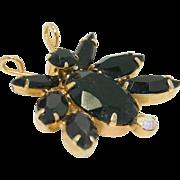Vintage Juliana (D and E) Book Piece Black Rhinestone Bug Brooch