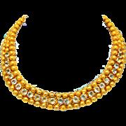 Vintage Juliana (D&E) Ball Chain & Rhinestone Necklace