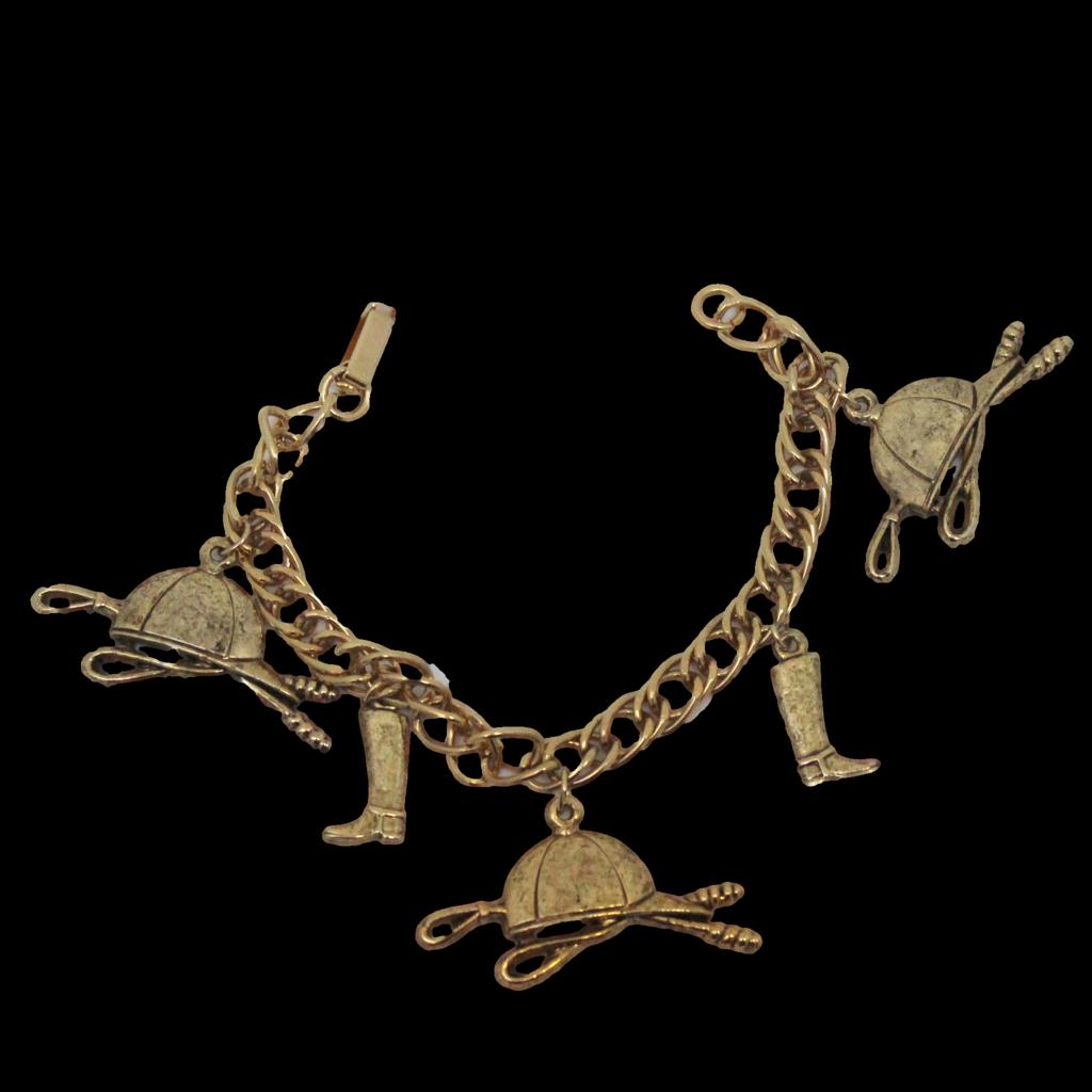 Vintage Juliana (D&E) Book Piece Fox Hunting Charm Bracelet from ...