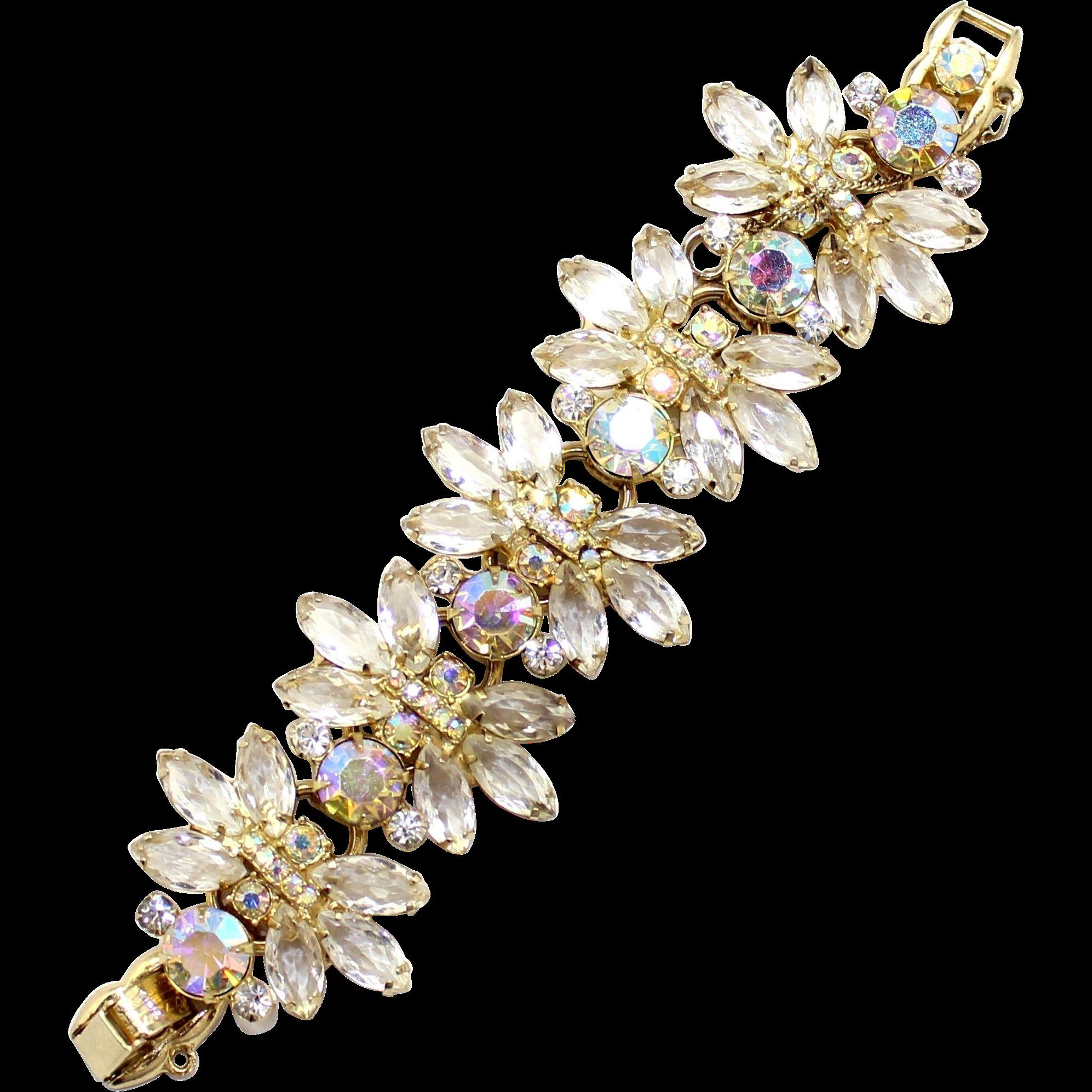 Vintage Juliana (D&E) Clear & AB Rhinestone Bracelet
