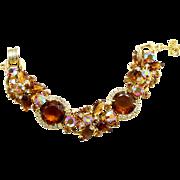Vintage Juliana Book Piece Topaz Dentelle Rhinestone Bracelet