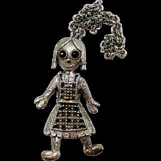 Vintage Juliana (D and E) Book Piece School Girl Pendant Necklace