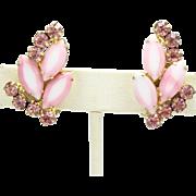 Vintage Juliana (D&E) Two Toned Pink Rhinestone Earrings