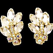 Vintage Juliana Clear and AB Rhinestone Earrings