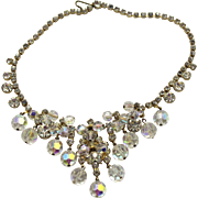 Vintage Juliana AB Crystal Clear Bead Rhinestone Necklace