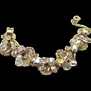 Vintage Juliana Clear Rhinestone Crystal Bead Halo Bracelet