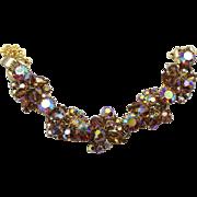 Vintage Juliana Topaz AB Rhinestone Crystal Bead Bracelet