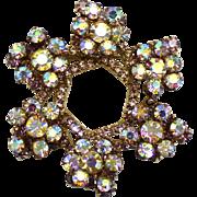 Vintage Juliana Lavender Rhinestone Florette Wreath Brooch
