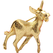 Vintage Napier Braying Donkey Brooch