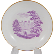 Early 19th c. English saucer with bat print scene
