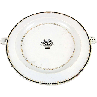 c. 1800 Chinese Export Hot Water Plate