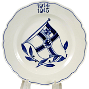 WWI Meissen Plate with Prussian War Flag