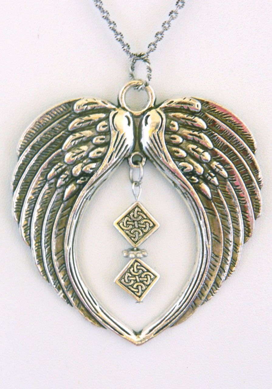 winged ruby on pendant item lane s chain plated antiqued silver treasured memories long linda wings