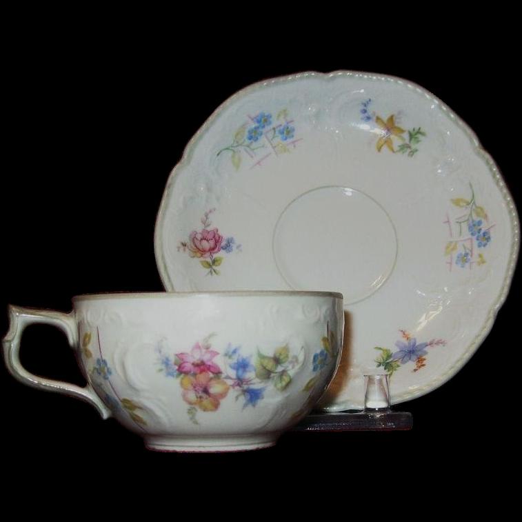 Rosenthal Selb Fine Porcelain Floral Demitasse in Sanssouci Pattern