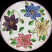 "Vintage Bold Floral Southern Potteries 7"" Under Plate"
